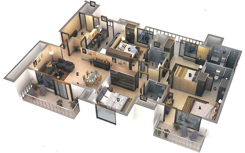 Planos de casas 1 2 plantas modernas 3d lujo etc - Planos en 3d de casas ...