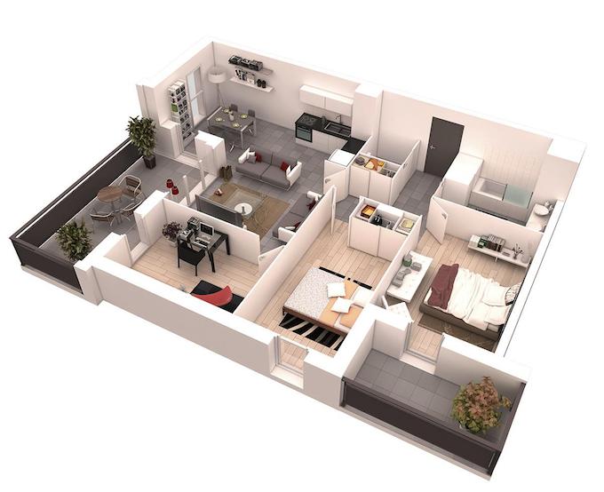 Planos de casas 1 2 plantas modernas 3d lujo etc for Distribucion casa