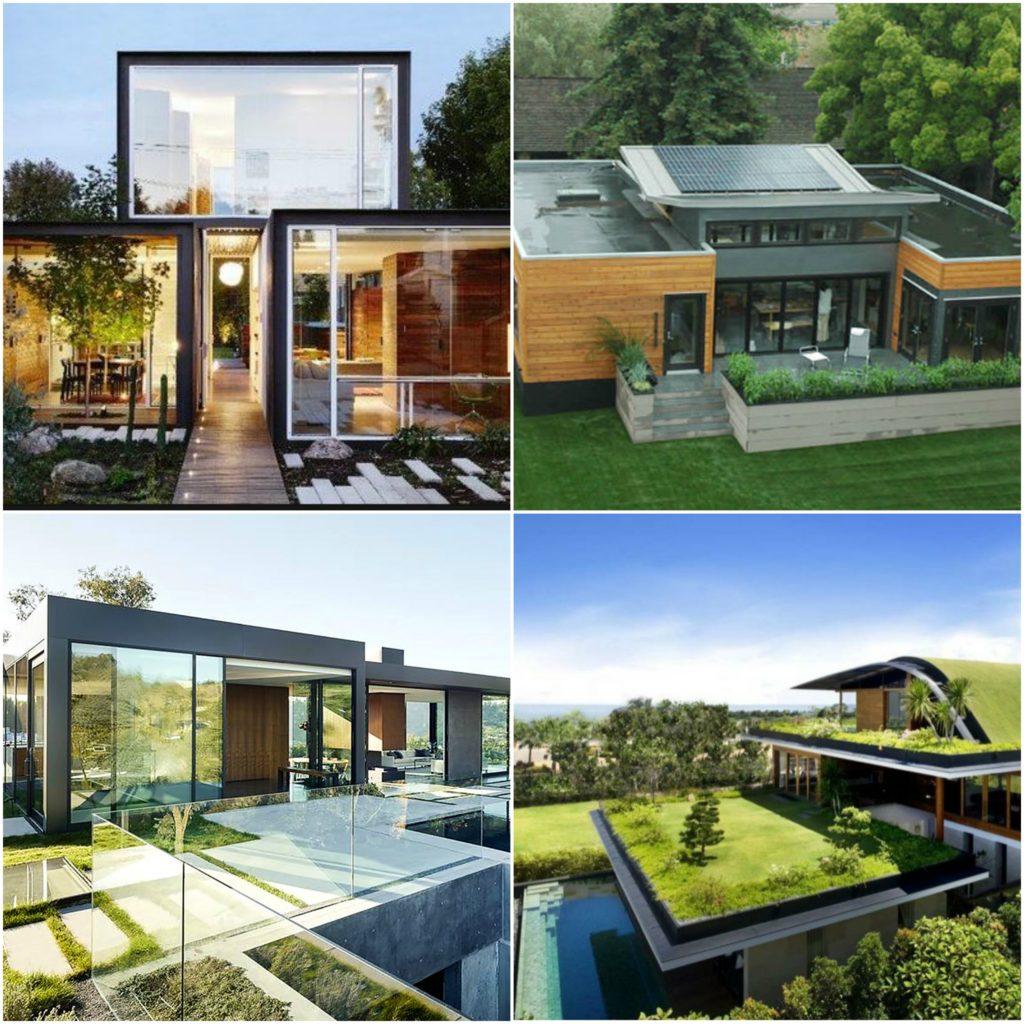 Varios modelos de viviendas ecologicas y ecoeficientes